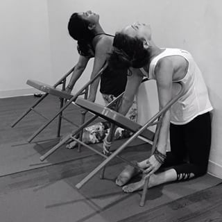 image result for iyengar yoga backbend chair  yoga