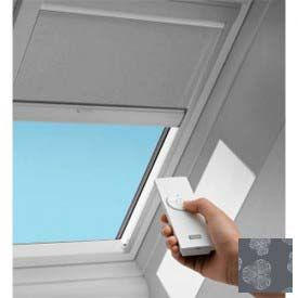 Velux Electric Blackout Blind Dmhc063185 For Vse Skylight 21 W X 45 3 4 H Metallic Blinds