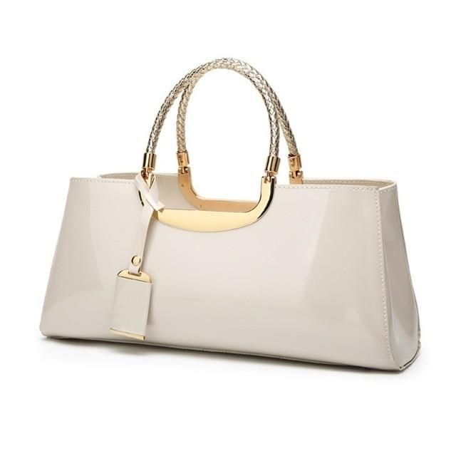 Photo of Women's High-Gloss Finish Patent Leather Evening Bag