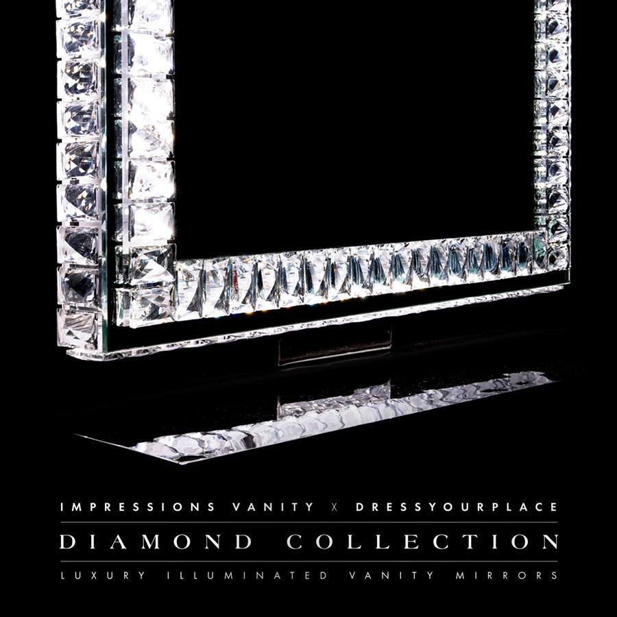Diamond Collection Princess Premium Illuminated Vanity