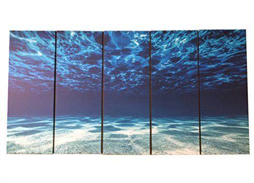 OUTH Blue Ocean Sea Wall Art Decor Wall Artworks For Homes Decor Sea