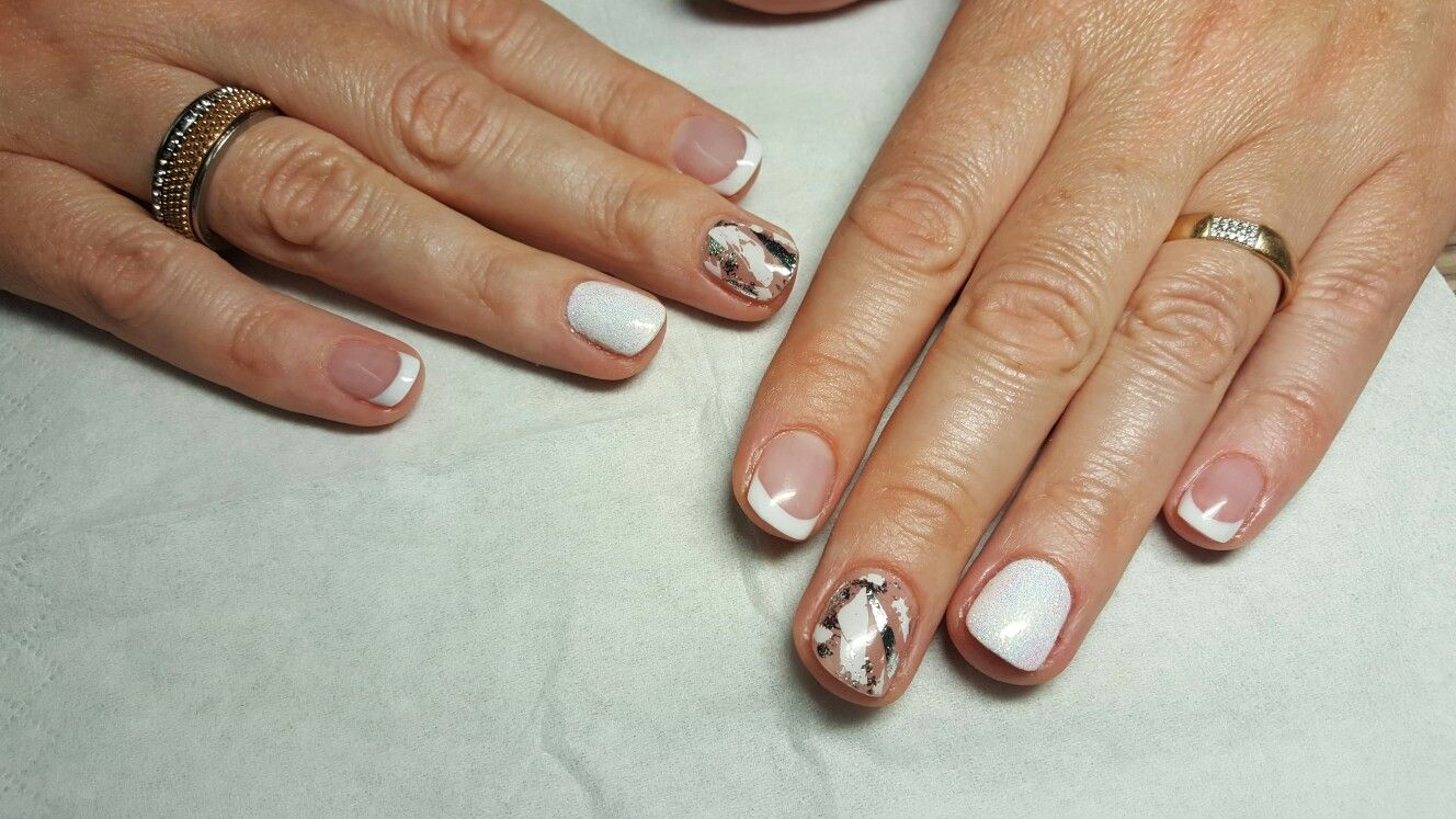 White nails french | acrylic nails | Pinterest | Nail french and ...