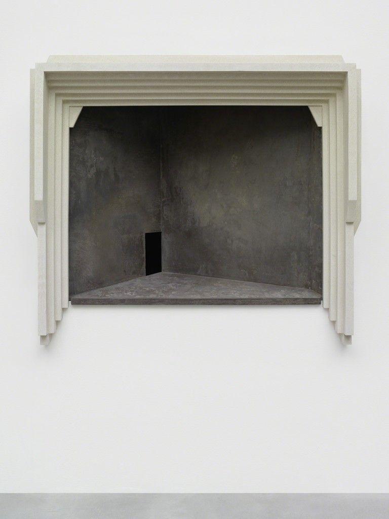 MARTIN BOYCE Same Day, 2015 Jesmonite, cement fondue 35 1/5 × 39 4/5 × 16 3/10 in