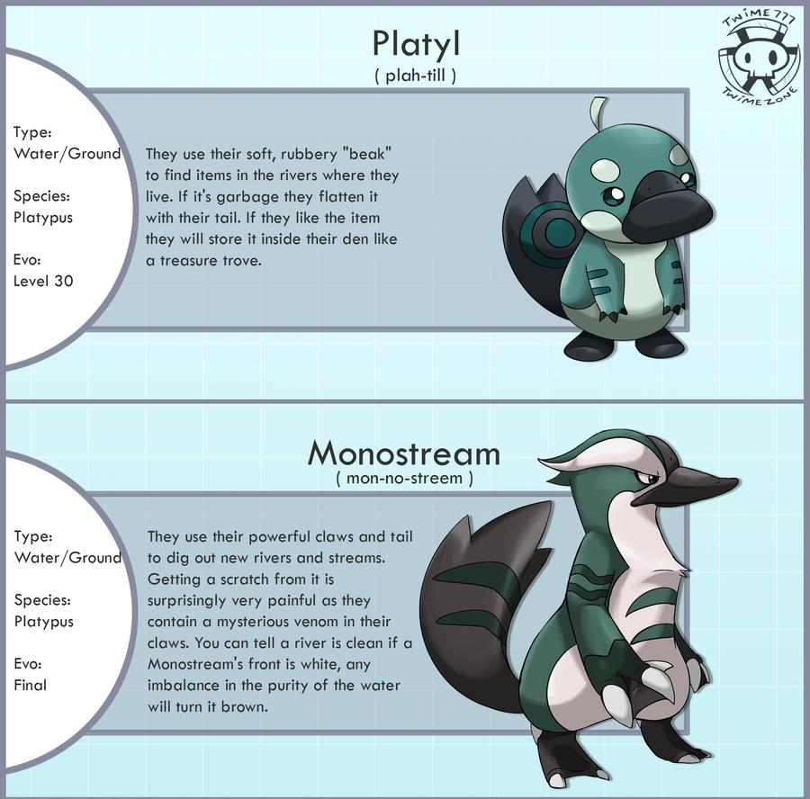 New Platypus Pokemon by Twime777 on deviantART