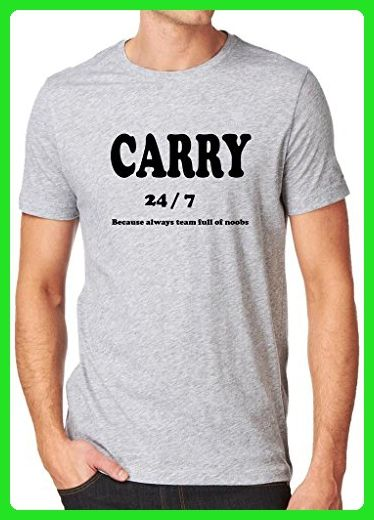 Gamer Quote Carry 24/7 Because of My Team Shirt Custom Made T ...