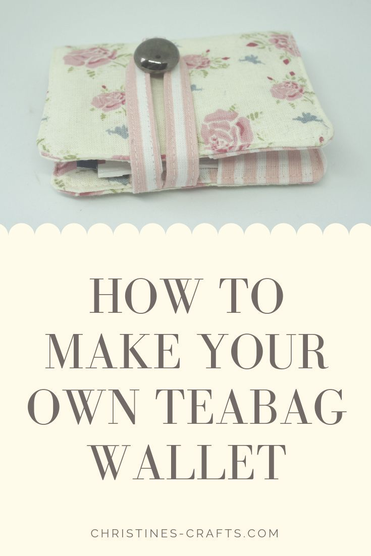 Teabag Wallet Tutorial with Photographs ~ -   - #Photographs #Teabag #tutorial #Wallet