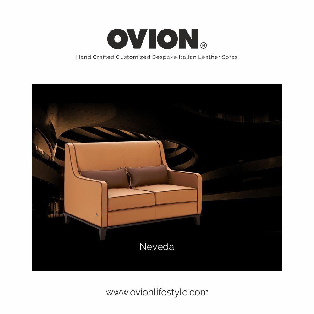 Think Sofas Ovion Sleek Luxury Italian Leather Sofa