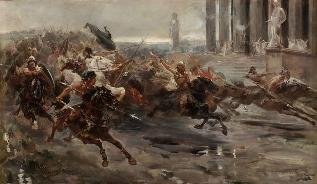 La invasión de los bárbaros, de Ulpiano Checa.
