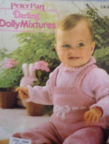 Peter Pan Baby Knits 5 Darling Dolly Mixturesn Knitting Pattern Uk