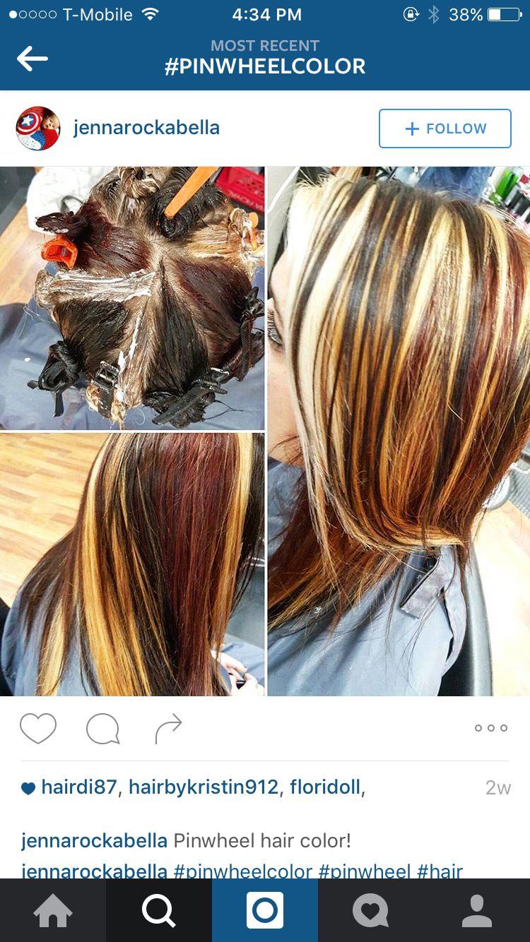 Marina moua beauty foilcolor placement pinterest hair pinwheel hair color pmusecretfo Images