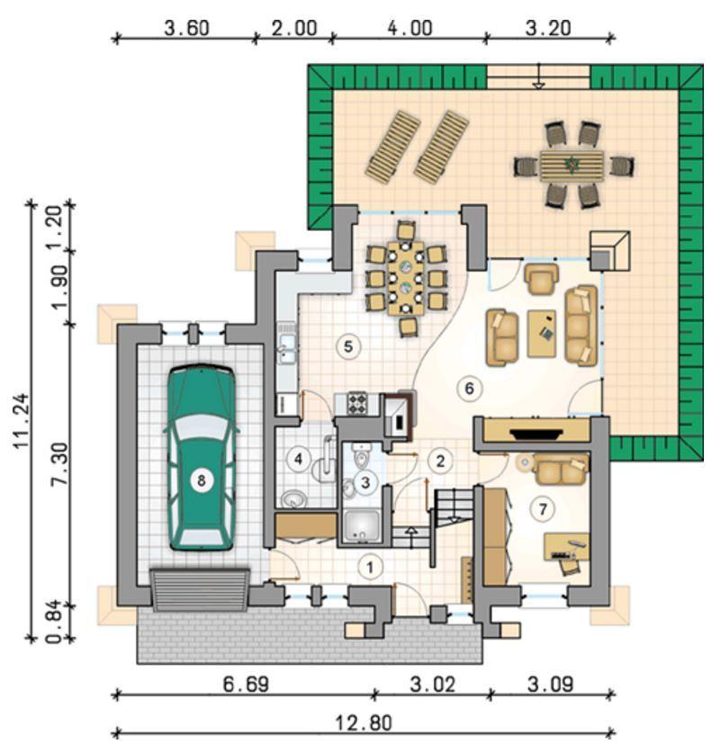 planos de casas rusticas de una planta