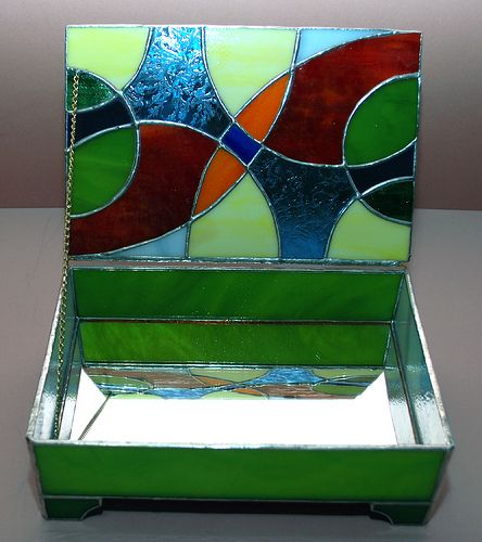 669b4795ccfe Abstract Box (Open) by Wesleys Glass Mosaics