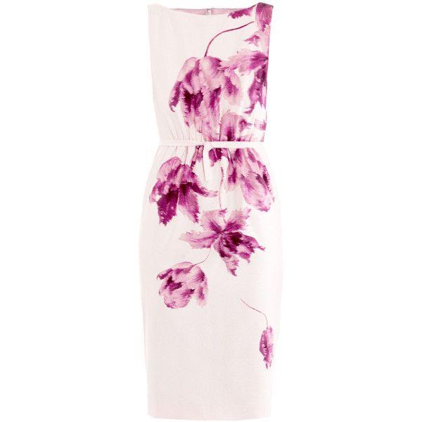 Giambattista Valli Orchid-print shift dress ($1,489) ❤ liked on Polyvore