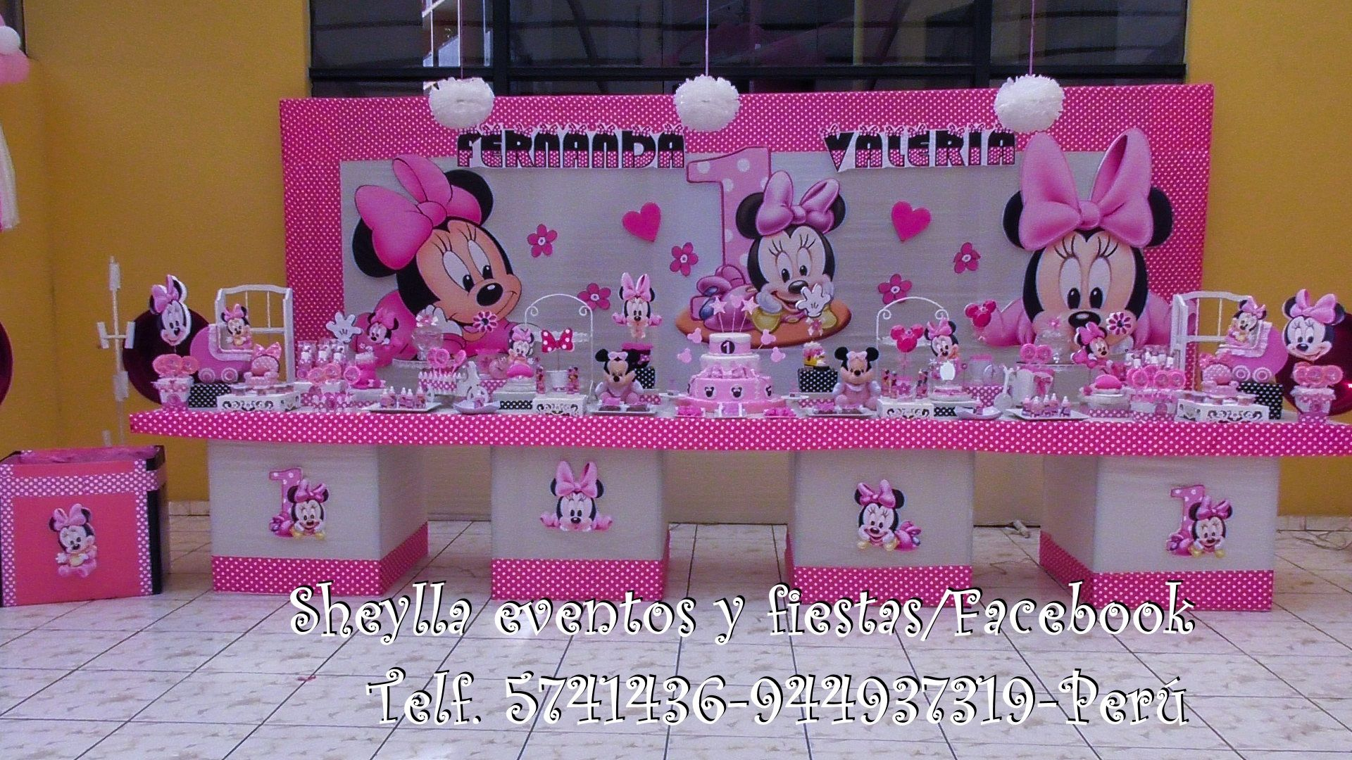 Decoraci n minnie bebe minnie coqueta bebe fiesta for Decoracion cumpleanos nino