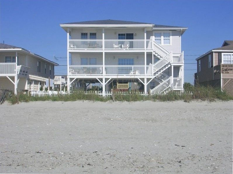 Oceanfront Pet Friendly House Cherry Grove North Myrtle Beach Home Beach