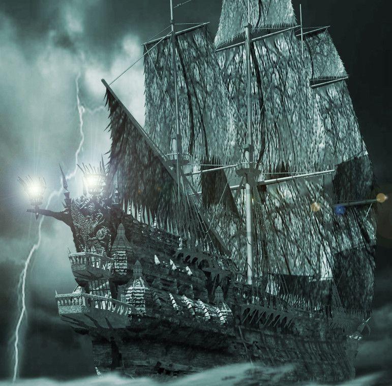 картинка пираты карибского моря летучий голландец