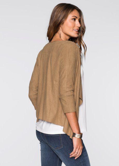 67c0fab4c2e7c8 Stretch-Shirtrock in Jeansoptik   Mode   Kurze jacken, Jacken ...