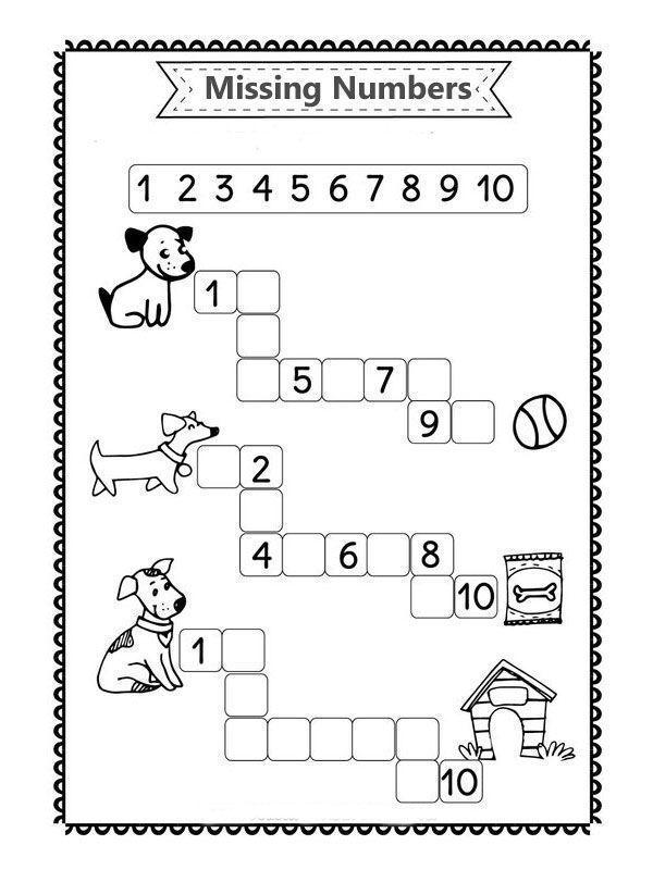 Before and after number worksheets for kindergarten - -