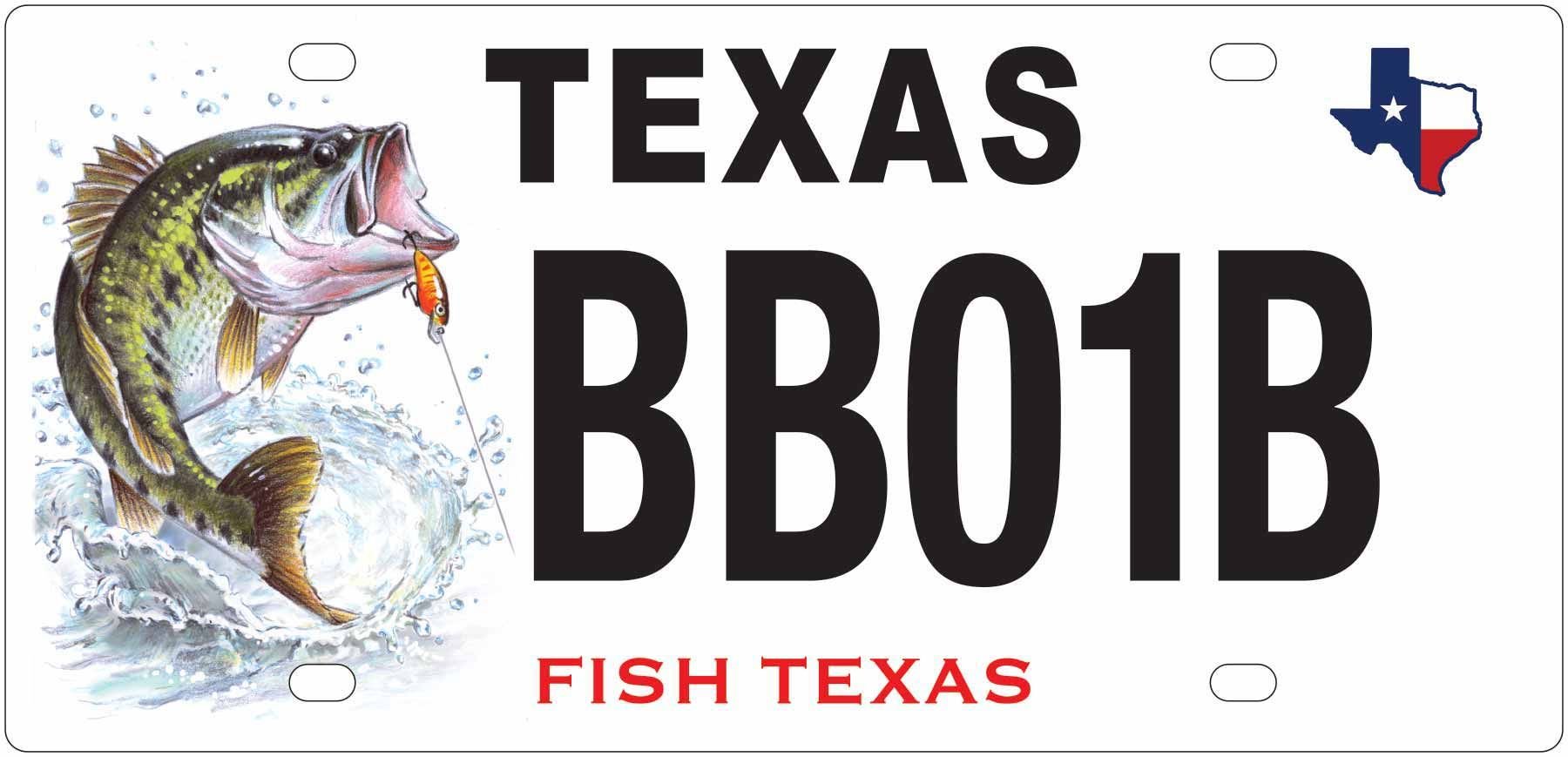 New Texas Largemouth Bass License Plate With Images Fish