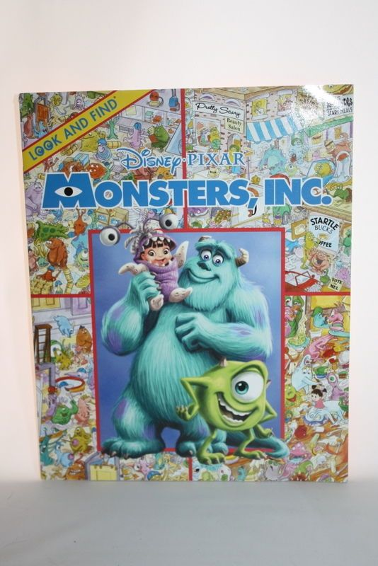 Disney Pixar Monsters Inc Look And Find Book Soft Back Disney Pixar Monsters Inc Pixar