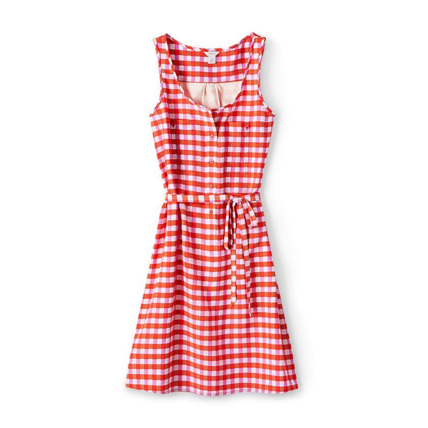 Fossil Damen Leah Kleid ROT KARIERT | 99dresses | Pinterest | Tank ...