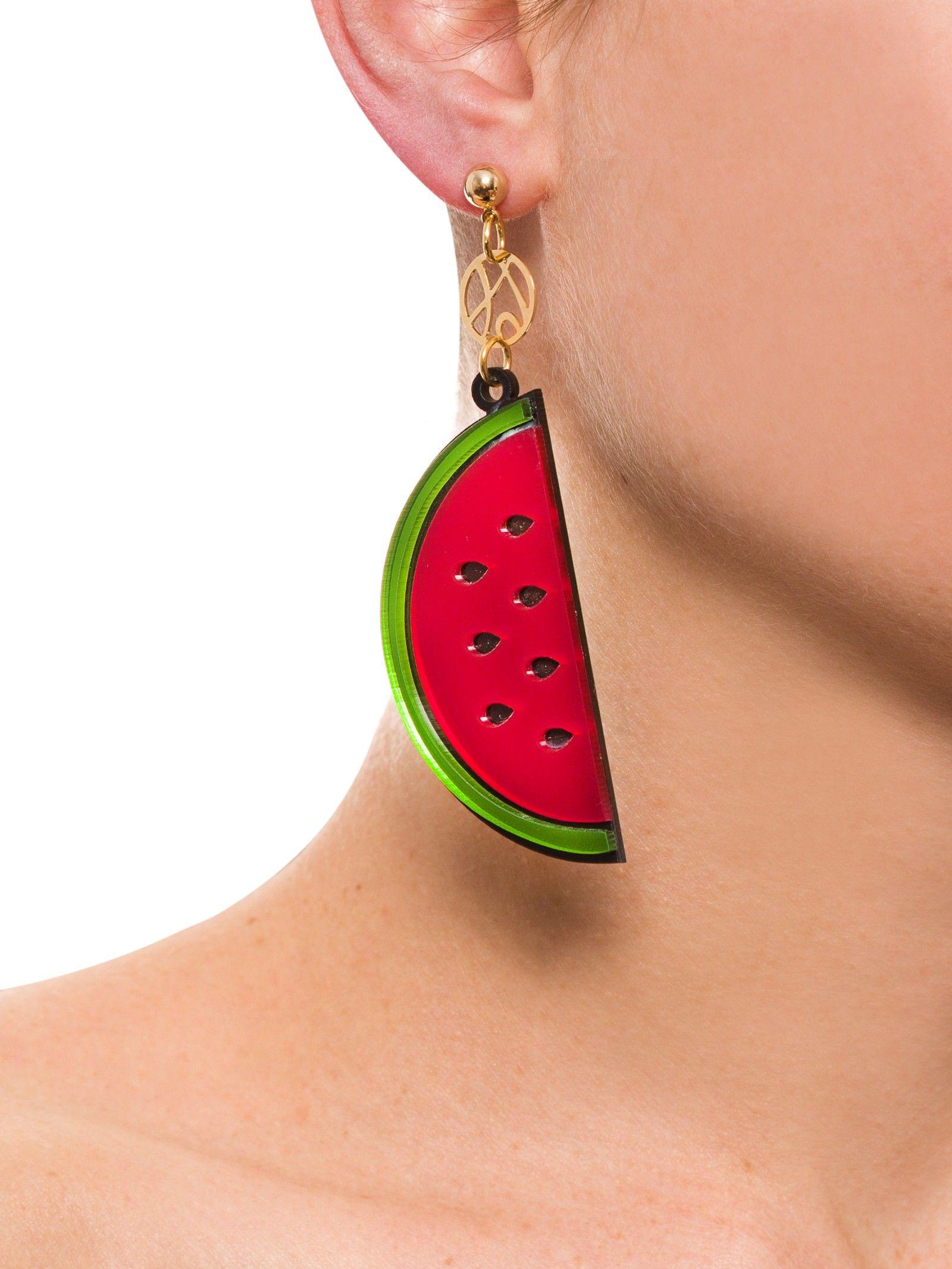 Brinco Carmen Melancia - 2TheBeach - Vermelho e Verde - Shop2gether
