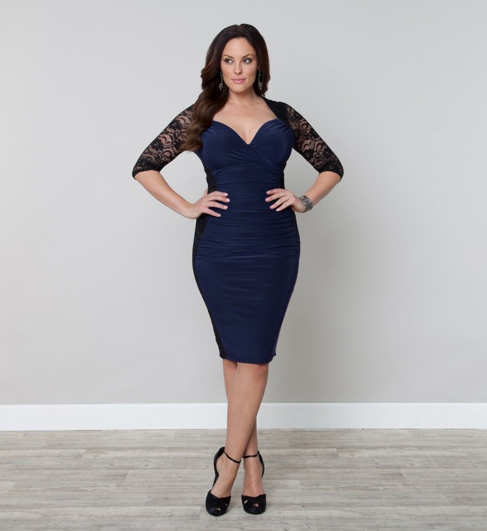 black shirt dresses plus sizes | Plus Size Cocktail Dress Navy ...