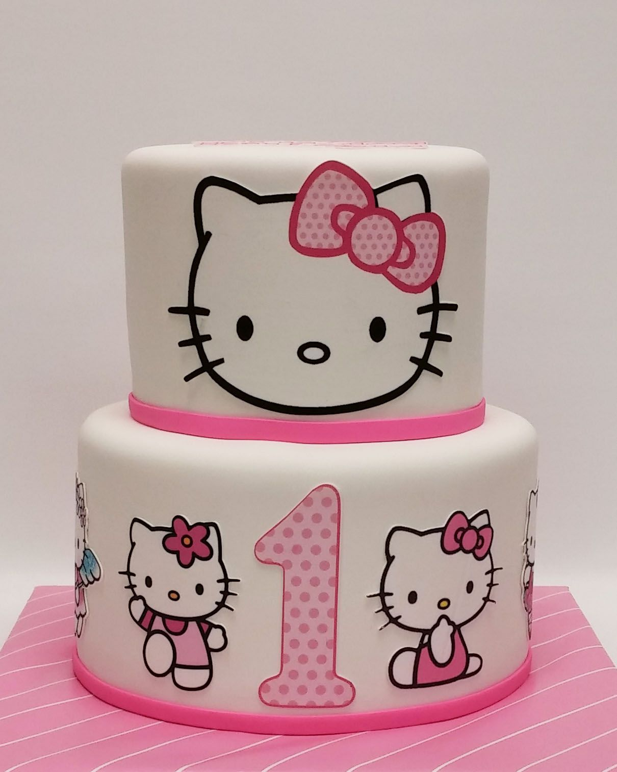 Pleasant Hello Kitty First Birthday Cake Hello Kitty Birthday Cake Funny Birthday Cards Online Inifodamsfinfo