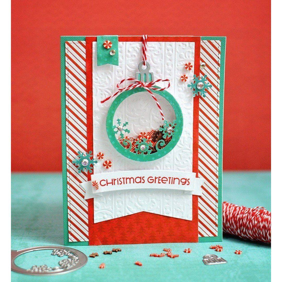 merry  bright ornament kit ii  ornament card christmas