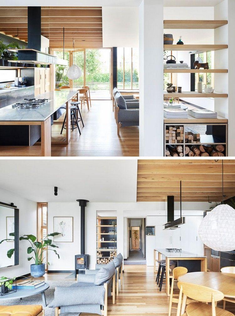 offener Wohnbereich in einem Hausanbau Wohnideen Wohnzimmer
