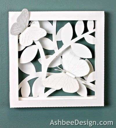 Ashbee Design Silhouette Projects 3D Butterfly Shadow Box