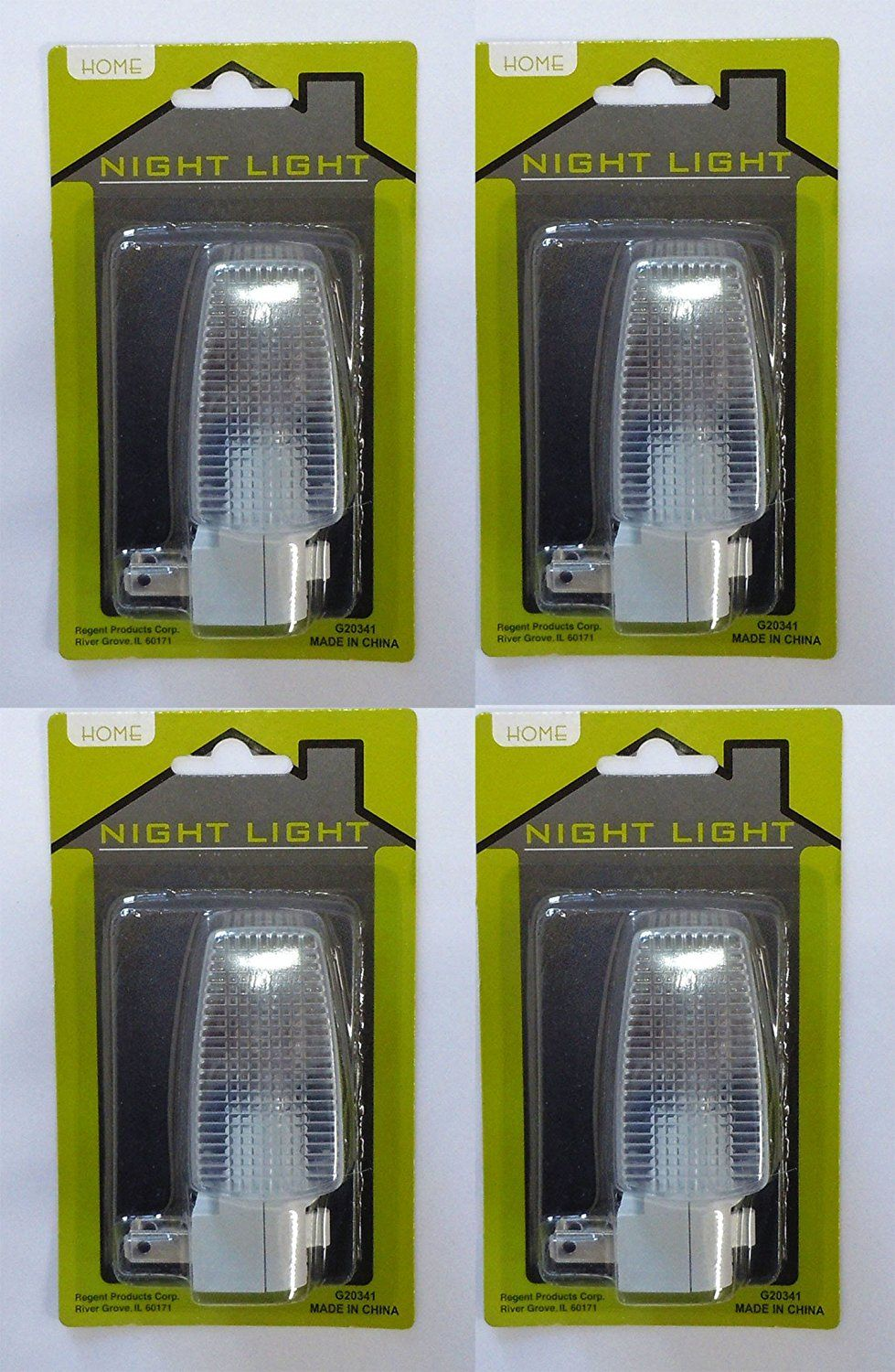 Night Light with Glass Block Shade and On/Off Switch 4W