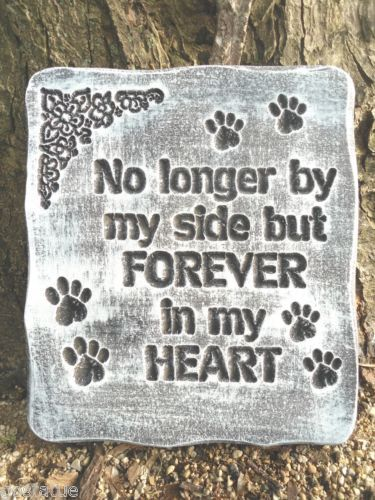 Pet Memorial Heart Stone Design May Vary Plaque Grave Marker