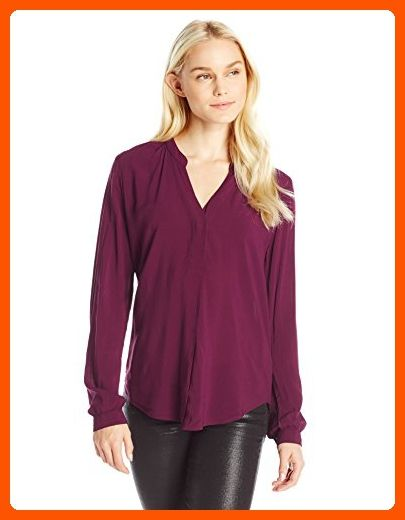 1d516aca448793 VELVET BY GRAHAM   SPENCER Women s Rayon Challis V-Neck Blouse ...