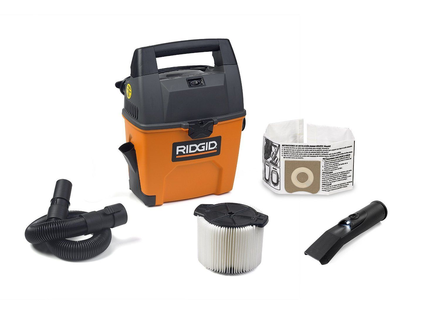 RIDGID Wet Dry Vacuums VAC3000 Portable Wet Dry Vacuum Cleaner for Car, Garage or In-Home Use, 3-Gallon, 3.5 Peak Horsepower Wet Dry Auto Vacuum Cleaner for Car. Wet dry auto vacuum cleaner for car can be stored easily and its lightweight design can be used as a portable wet dry vacuum cleaner for car. Convenient storage in the car, garage or in the home. Built-in suction dustpan on this car vacuum cleaner makes quickly cleaning up small messes easy, making it the perfect wet dry auto…