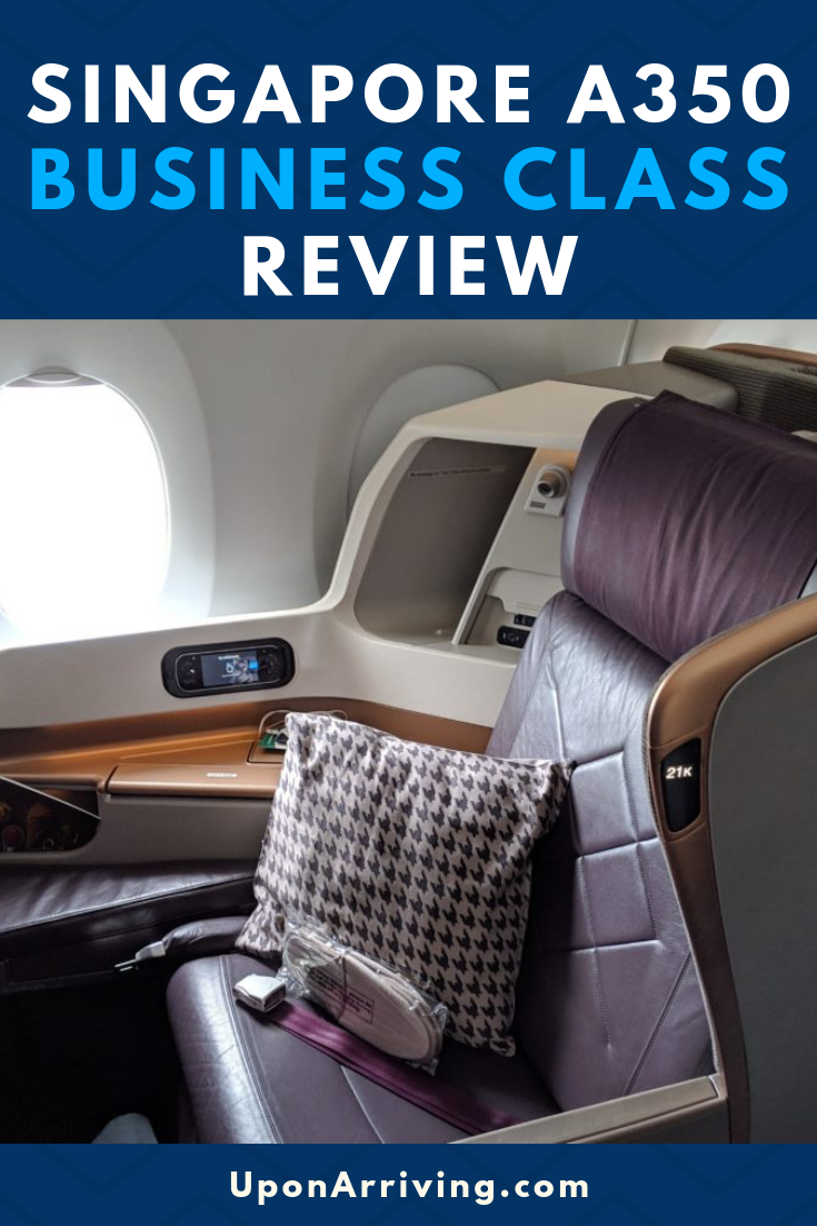 Singapore Airlines A350 Business Class Review (FCO to SIN