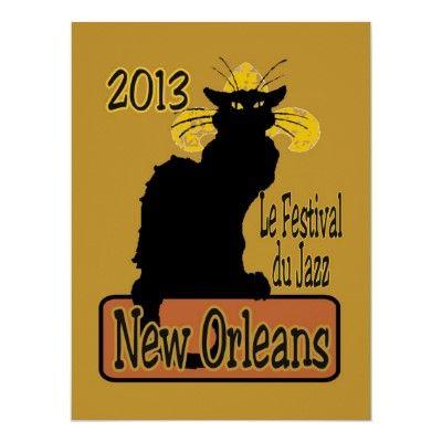 Jazz Fest 2013 Le Chat Noir Poster
