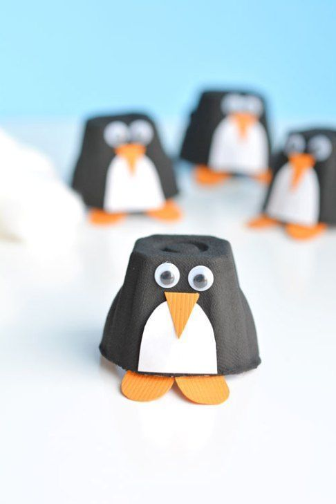 Photo of 50 super cute winter handicrafts for children #b – children's cake diy cardboard
