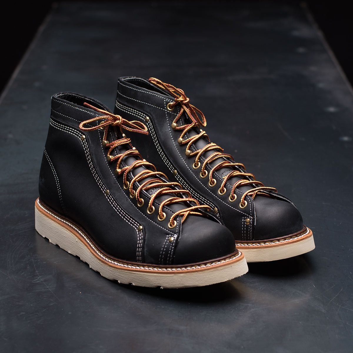 Thorogood American Heritage Lace-To-Toe Roofer Boots - Black