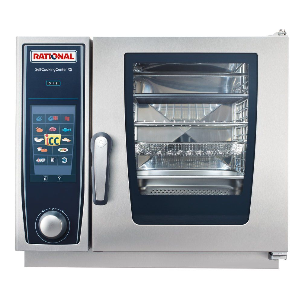Rational B608106 12 Selfcookingcenter Xs 6 2 3 E Single Half Size Electric Combi Oven 208 240v 3 Phase 5 7 Kw Combi Oven Combination Oven Kitchen Innovation