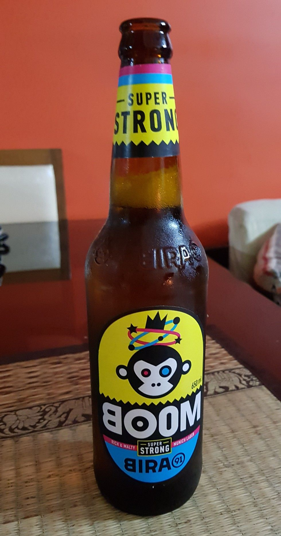 Indian Bira91 Super Strong Beer Rich Malty Munich Lager Beer Lager Beer Bottle