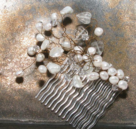 Brides Vintage Handmade Swarovski Crystal and by Eridana on Etsy, $59.00