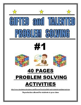 GIFTED AND TALENTED PROBLEM SOLVING #1 | School | Gifted