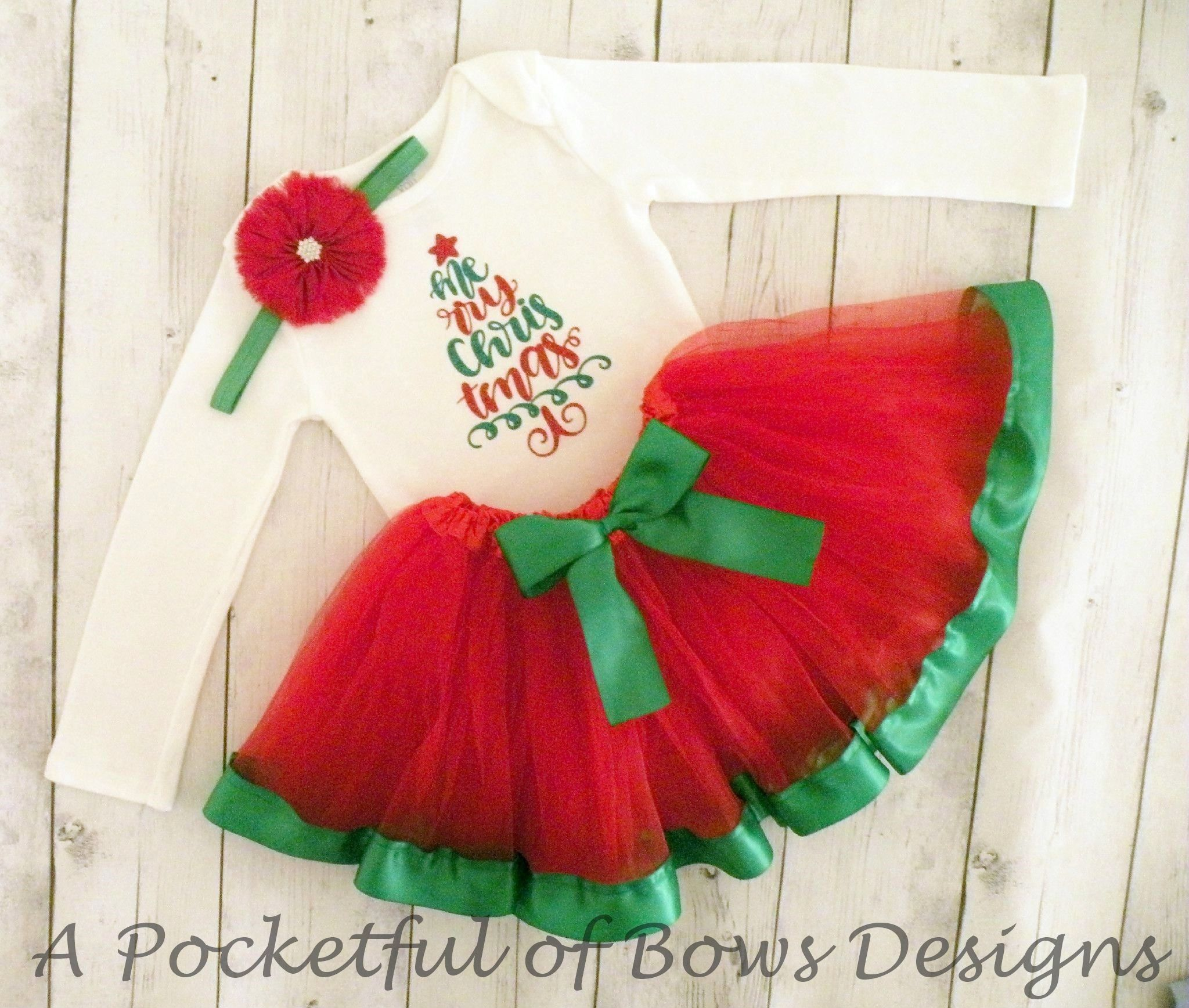 Christmas Tutu Outfits.Christmas Tutu Outfit Red And Green Christmas Tutu Dresses
