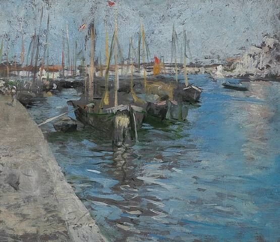 Painting Of Provincetown Wharf, Cape Cod