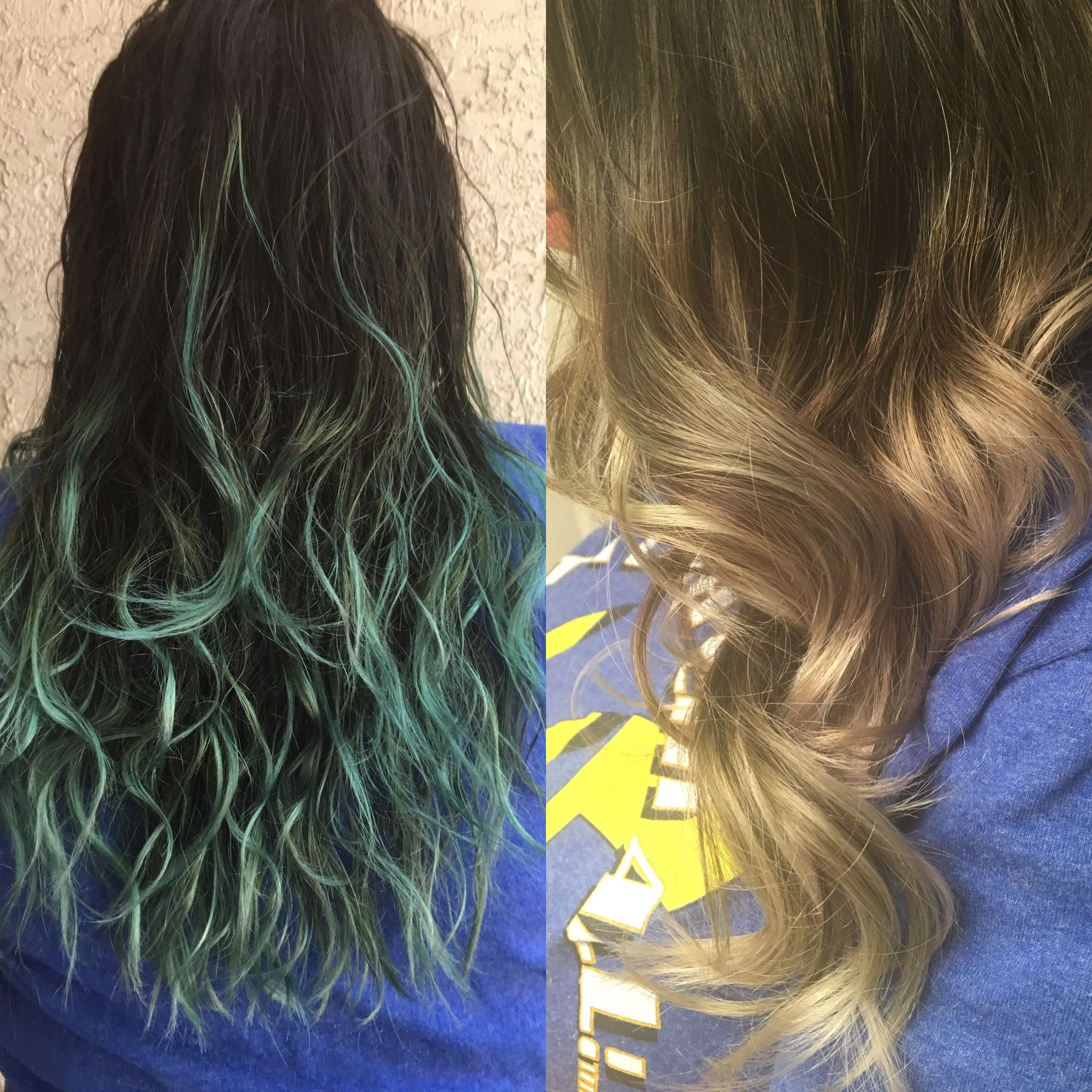 From Green To Blonde Using Joico Color Intensity Eraser Hair