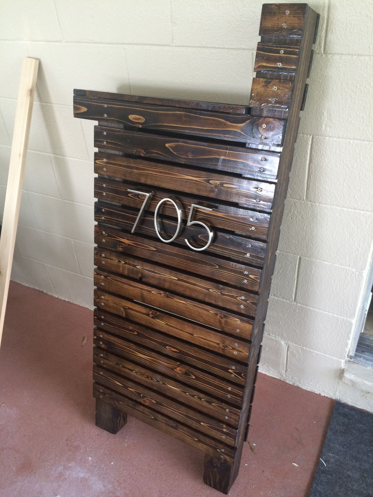 modern mailbox ideas. Create An Arty Wooden Mailbox Easily With This Great Tutorial. Some Stain, Fence Posts, And Cedar Wood. So Simple Beautiful, A True Piece Of Art. Modern Ideas