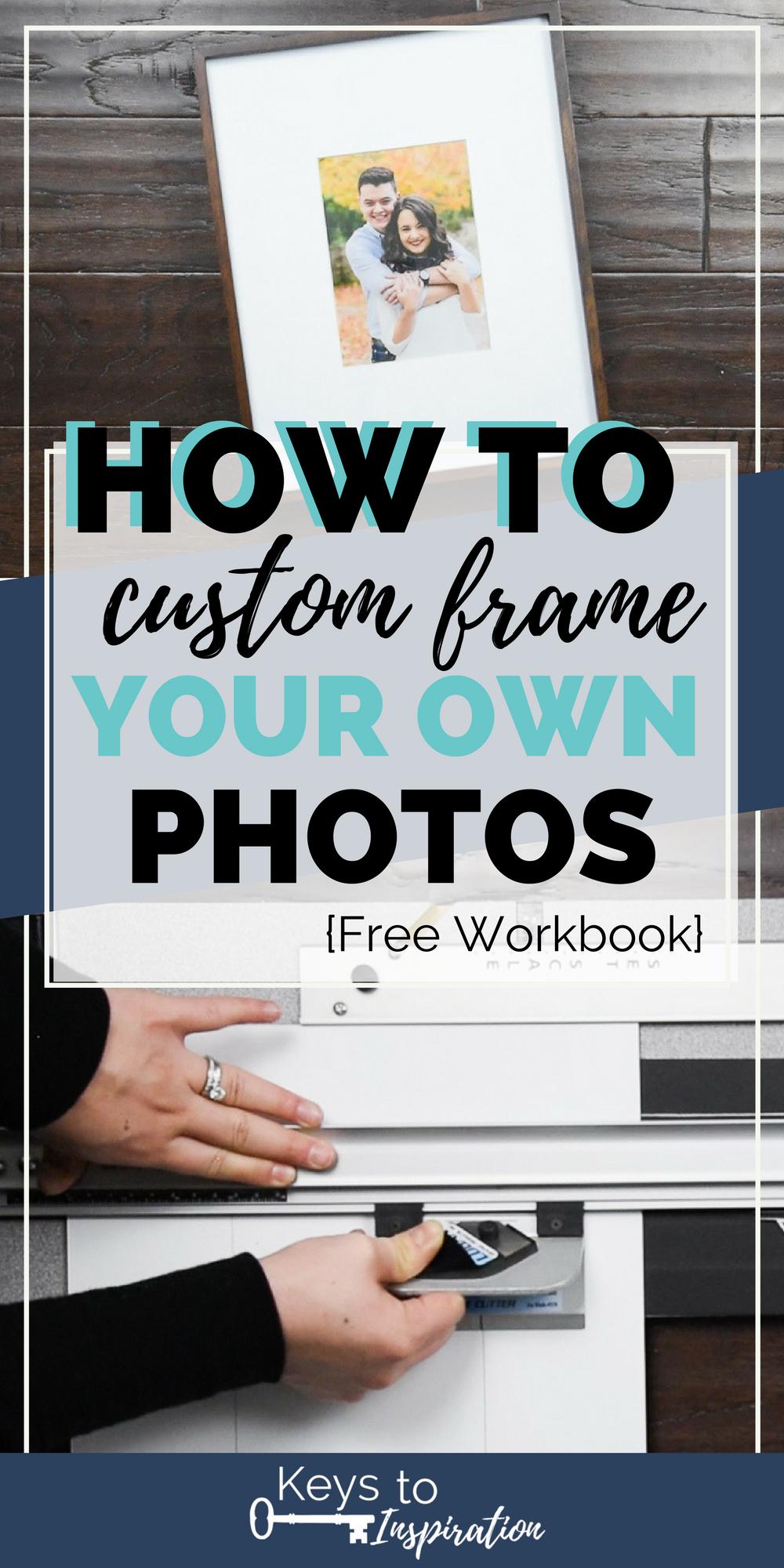 How To Custom Frame Your Own Photos Christene Holder Custom Framing Diy Custom Framing Picture Frame Mat