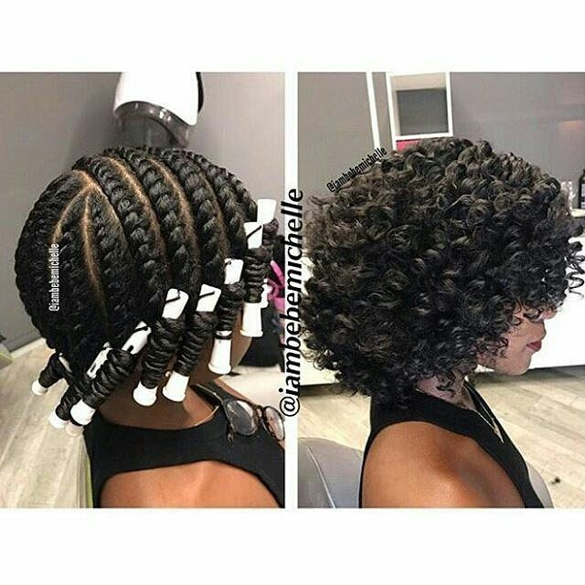 bomb perm rod set hairstyle