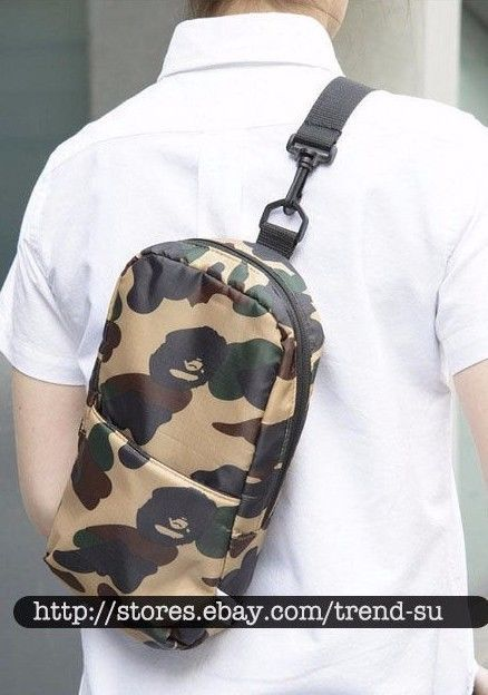 A Bathing Ape Bape Green Camo Body Shoulder Bag Japan Rare  fashion   clothing  shoes  accessories  mensaccessories  bags (ebay link) a30728332f2d2
